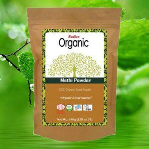 OrganicHaarverf.nl - Haarmasker Organic Methi Powder Kruidenhaarmasker 100g
